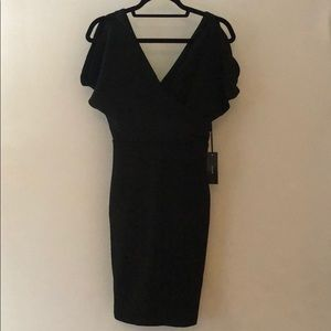 NWT Lulu's black faux wrap dress - Small